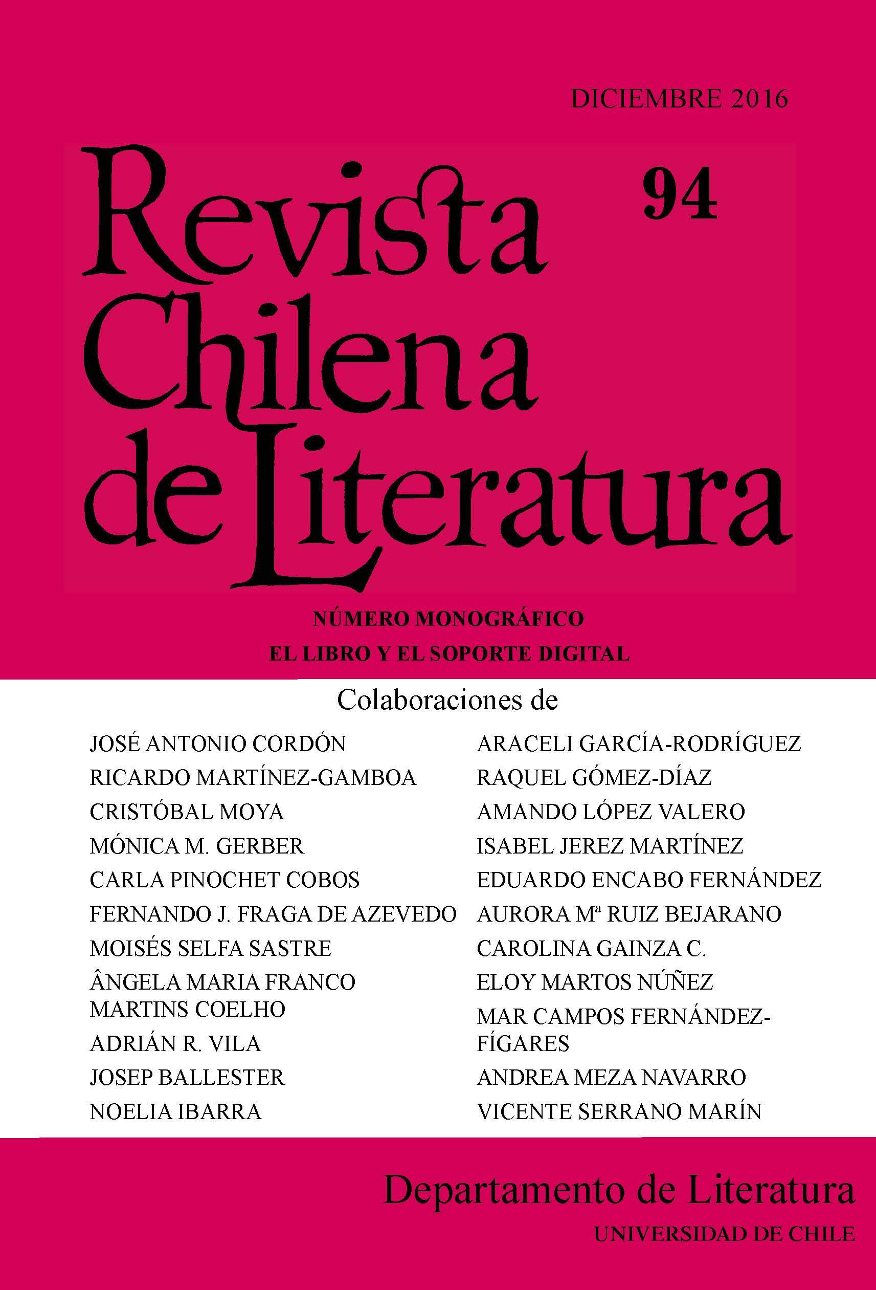 Revista Chilena de Literatura